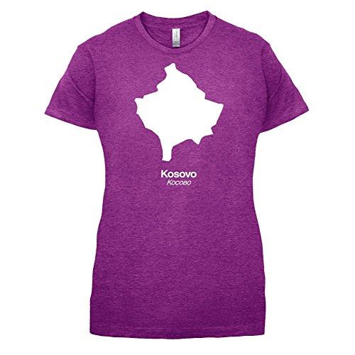 Kosovo Silhouette - Damen T-Shirt - 14 Farben Beere