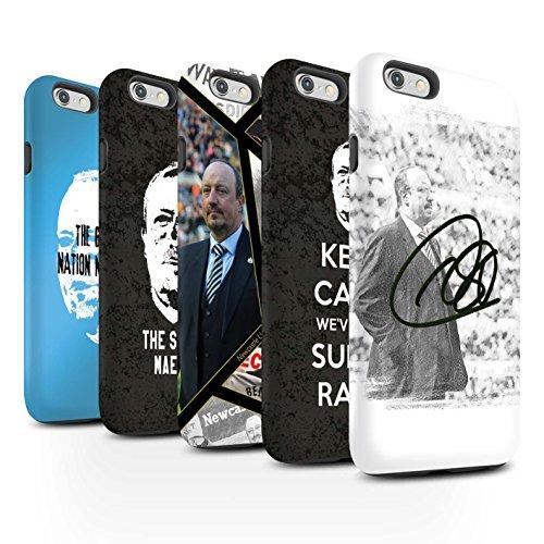 Officiel Newcastle United FC Coque / Matte Robuste Antichoc Etui pour Apple iPhone 6S / Pack 8pcs Design / NUFC Rafa Benítez Collection Pack 8pcs