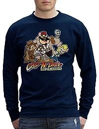 Chip N Dale Last Crusaders Indiana Jones Rescue Rangers Men's Sweatshirt