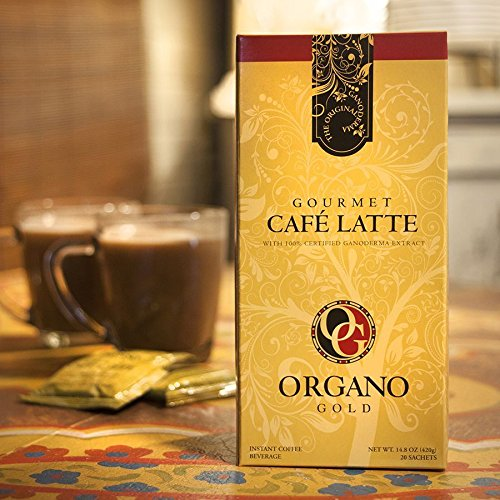 A delicious latte in an instant is at your fingertips with Organo Gold Gourmet Café Latte. Our finest quality Arabica beans and Ganoderma are blended with cream and sugar for a light, creamy latte minus the wait in line! Flavorful, fast and delightfu...