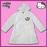 Hello Kitty Bademantel weiss mit Stickmotiv Morgenmantel, Größe Bademantel:116/122