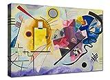 Quadri Moderni cm 100x70 XXL Stampa su Tela Canvas Kandinsky 01 Arredo Soggiorno Arte casa
