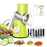 Gemüseschneider Manuelle Spiralschneider mit 3 Edelstahl Einsatz für Küche Urlaub Grün von LovelyHome