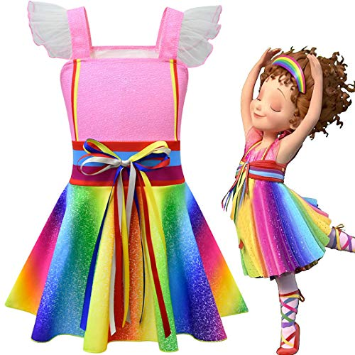 QYS Ausgefallene Nancy Cosplay Kleider Halloween Kostüm verkleiden Sich Kleidung für Kleinkind Mädchen,120cm (Dress Für Halloween Up Wie Puppe Eine)