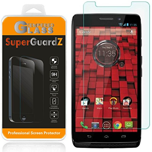 SuperGuardZ [2er Pack] für Motorola Droid Maxx (2013Release, für Verizon) Tempered Glas Displayschutzfolie, 9H, 0,3mm, 2.5D Round Edge, Kratzfest, blasenfrei