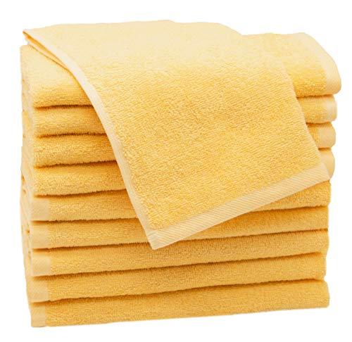 ZOLLNER 10 Asciugamani per Gli Ospiti Giallo 30x50 Altri Colori