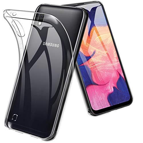 TopACE Hülle für Samsung Galaxy A10/M10, Ultra Schlank R&umschutz Softschale Silikon TPU Stoßfest Handyhülle Schutzhülle AntiFingerabdruck Shock Absorption Cover Samsung Galaxy A10/M10 (Transparent)