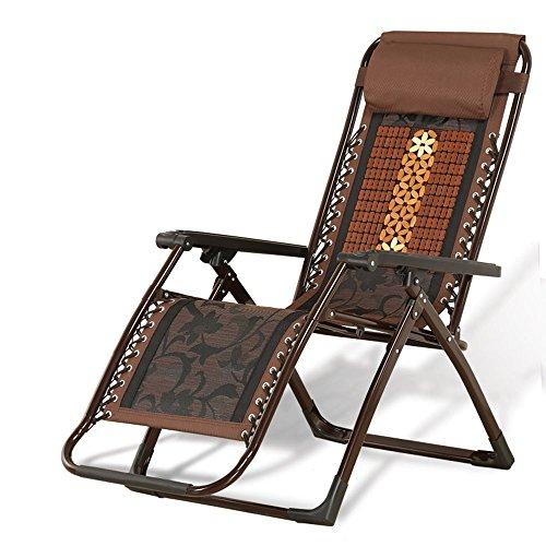 Mahjong Liegen Klappbett Pause Bett Büro Nap Stuhl Alt Mann Freizeit Stuhl Bambus Stuhl (Farbe Optional) ( Farbe : C )