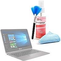 DURAGADGET Kit Para Limpiar La Pantalla De Portátil Acer Predator 17 X / Asus Chromebook Flip C302CA , PRO B9440 , ZenBook Flip UX360UA , ZenBook 3 Deluxe (UX490UA) - Limpiador + Paño De Microfibra + Brocha