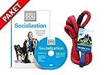 Hundeflüsterer Cesar Millan Leine Hundehalsband Illusion Collar Rot gewebte weiche Baumwolle inkl. Socialization DVD Hunde Sozialisierung Grundlagen der Hundeerziehung Essentials of Dog Behavior Hundeflüsterer