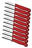 Schwertkrone 10er Messer Set Gemüsemesser Küchenmesser Schälmesser aus Bandstahl - Germany rostfrei 16 cm Gesamtlänge - 6 cm Klinge