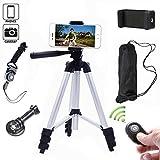 Kamera Stativ 102cm Aluminium Smartphone Stativ mit Handy Halterung und Bluetooth Fernbedienung Handy Stativ f�r iPhone Samsung und Kamera Bild