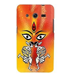 PrintVisa Jai Jay Maa Ambey 3D Hard Polycarbonate Designer Back Case Cover for Samsung Galaxy Core 2 G355H :: Samsung Galaxy Core II :: Samsung Galaxy Core 2 Dual