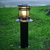 Solarleuchten Garten LED Retro Edelstahl+Acryl Energieeffiziente Umweltfreundliche Wasserdicht für Außen / Landscape / Outdoor Zaun Stimmungslampe Schwarz (IP55)