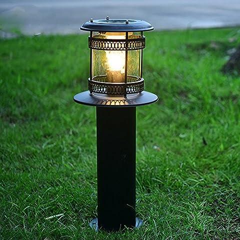 Solarleuchten Garten LED Retro Edelstahl+Acryl Energieeffiziente Umweltfreundliche Wasserdicht für Außen / Landscape / Outdoor Zaun Stimmungslampe Schwarz (12 Stück Schwarze Acryl)