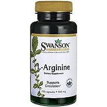 Swanson - L-Arginina 500mg, 100 Capsule Vegetali - Circolazione del
