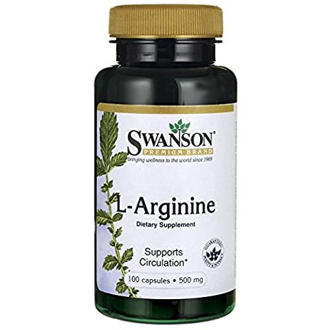 Swanson - L-Arginine PURE 500mg, 100 gélules - 1000mg Double