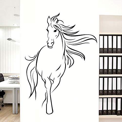 Nordic Horse vinyl Wandaufkleber für Kinderzimmer Dekoration haus Aufkleber wohnzimmer schlafzimmer Dekor tiere Wandaufkleber Wandbild 58X79CM