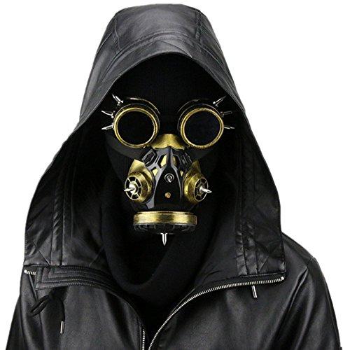 amen Fashion Steampunk Brillen Gas Maske Halloween Requisiten Geschenk Einheitsgröße Gujin ()