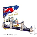 massG® Cubic Fun 3D Puzzle Tower Bridge Jigsaw Monument Decorative Scale Model