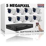 DVS Germany - Profi Serie 5 Megapixel Videoüberwachung Komplett Set 2,8mm-12mm - LID90SET8-2000GB Festplatte