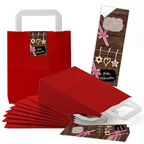 10rojas pequeñas bolsas papel Papel bolsillos suelo