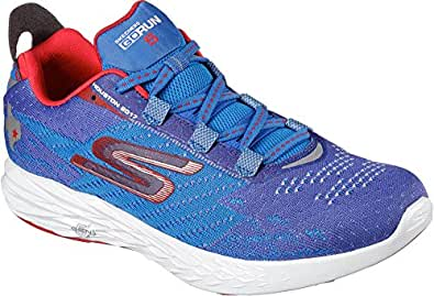 Skechers Ladies GOrun 5 Running Shoe Blue/Red 6. 5 Medium