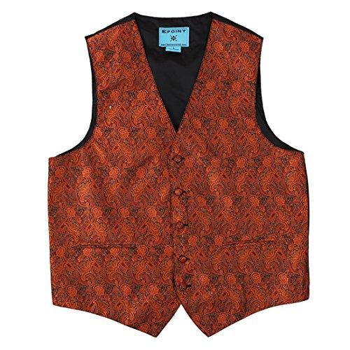 EGD2B.01 regalo Dare Paisley microfibra dello smoking del vestito della maglia del legame del collo fissato dal Epoint EGD2B01B-Buio arancione