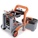 #1118 Black & Decker Werkbank 3in1 mit Werkzeugkoffer - Mobile Trolley Schubkarre Werkzeug Koffer Kinder