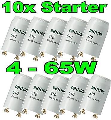 10 Stück Phillips S10 Ecoclick Starter für Leuchtstoffröhren von 4-65 Watt von Philips auf Lampenhans.de