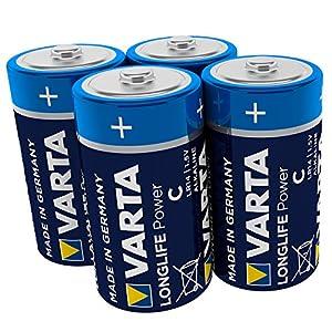 Varta Batterien 1,5 V Longlife C Alkaline Batterie, 4 Stück
