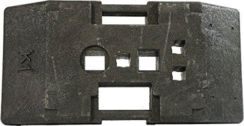 Fußplatte Typ K1 - 28 kg, mit 60 x 60 und 40 mm Öffnungen, für Absturzsicherungen, City-Baken