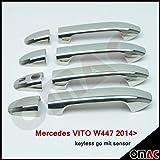 VITO W447 2014> Chrom Türgriffe Blenden 4tlg aus Edelstahl