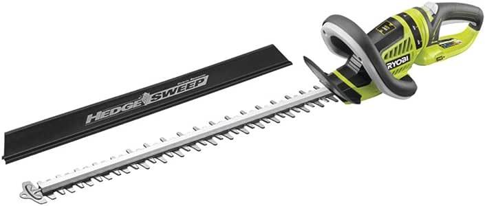 Ryobi Akku-Heckenschere 18V OHT1855R, Heckenschneider mit ergonomischem Design, geringes Gewicht, drehbarer Handgriff, diamantgeschliffene gegenläufige Messer und Grip Zone, Art.-Nr. 5133002161