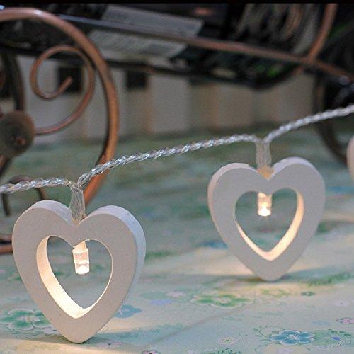 Preisvergleich Produktbild Gold butterfly@ Wooden Herz Warm White 10 LED Fairy String Lichter Beleuchtung Home Decorations
