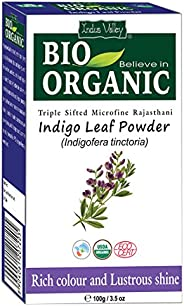 Indus Valley Triple Shifted Micro-Fine Indigo Leaf Powder For Hair Nourishment And Natural Color,100g/3.5oz