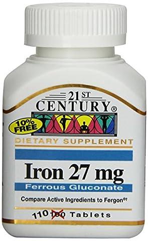 Iron, 27 mg, 110 Tablets