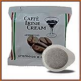 50 Cialde Caffè aromatizzato all'Irish cream in carta ESE 44 mm Miscela di caffè torrefatto e macinato. Il gusto intenso e corposo del caffè con l'aroma di Irish Cream, una piacevole pausa di benessere da concedersi in ogni momento della gior...