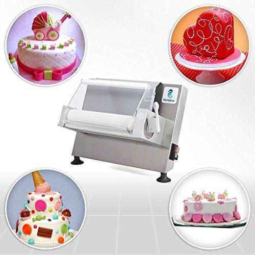 Maxy Sfogly Ausrollmaschine von VELMA S.r.l. Pastaline – Diese Teigausrollmaschinen sind ideal für die Verarbeitung von zuckerhaltigem Teig, Modellierschokolade und Marzipan, jedoch auch für Blätter- und Mürbeteig – 2 Jahre Garantie - 5