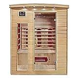 Home Deluxe – Infrarotkabine – Tropical L – Keramikstrahler– Holz: Hemlocktanne - Maße: 110 x 153 x 190 cm – inkl. vielen Extras und komplettem Zubehör