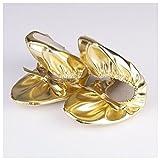 Best Dance Girl 's Bauch Dance Shoes Gold Kunstleder Schuhe, Gold