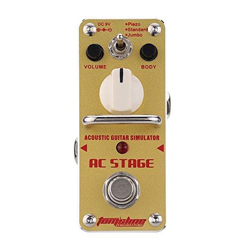 ammoon Duft AAS-3 AC-stufige Akustikgitarre Simulator Mini einzelne e-Gitarren Effekt Pedal mit True Bypass