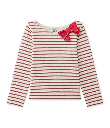 Petit Bateau Mädchen Sweatshirt Mariniere, Mehrfarbig (Coquille/Lurex Flashy 71), 104 (Herstellergröße: 4ans/104cm) (Jumper Petite)