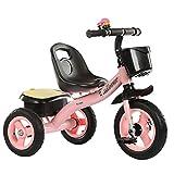 SSLC Triciclos Bebes,Coche Triciclo Niño Bicicleta Bebe Evolutivo para Niños de 2-5 Años,Trike Bicicleta Control Parental Mango yRuedas de Gomas y Conducción Silenciosa Máx 30 kg, Pink