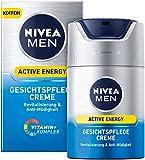 NIVEA MEN Active Energy Gesichtspflege Creme im 2er Pack (2 x 50 ml),...