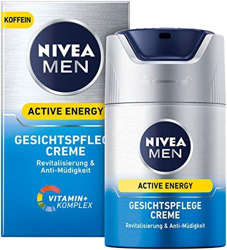 NIVEA MEN Active Energy Gesichtspflege Creme im 2er Pack (2 x 50 ml), erfrischende Gesichtscreme für Männer, Feuchtigkeitscreme gegen Zeichen von Müdigkeit