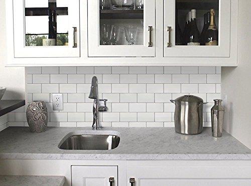 Vamos Fliesen Premium Anti Form schälen und Stick Fliesenspiegel, selbstklebendes Wand Fliesen Für Küche & bathroom-10.62