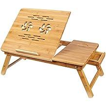Songmics Mesa para ordenador portátil de Bambú LLD001
