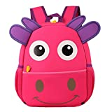 Happy cherry - 3D Superligera Mochila Infantil Escolar Impermeable Ergonómico Animal para Niños niñas bebés - Ternero - Rosa