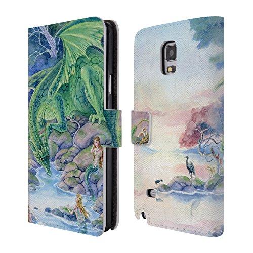 (Head Case Designs Offizielle Meredith Dillman Luft und Meer Fantasy Brieftasche Handyhülle aus Leder für Samsung Galaxy Note 4)